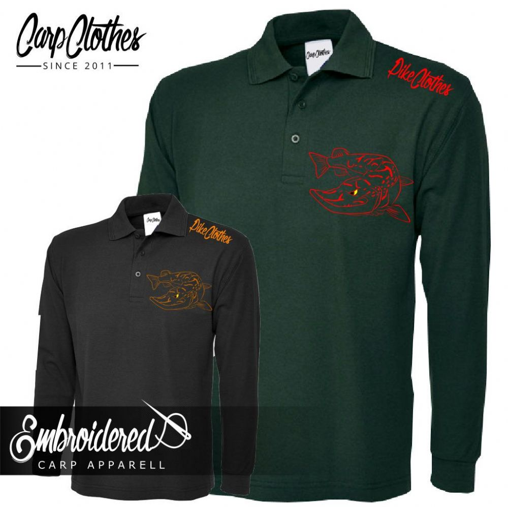 025 EMBROIDERED PIKE LS POLO